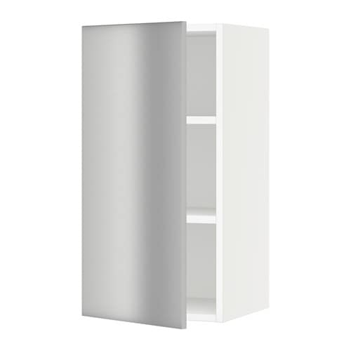 sektion armoire murale blanc grevsta acier inox 15x15x30 ikea. Black Bedroom Furniture Sets. Home Design Ideas