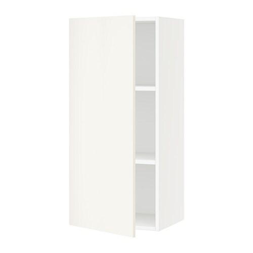 Sektion armoire murale blanc veddinge blanc 18x15x40 for Armoire murale cuisine