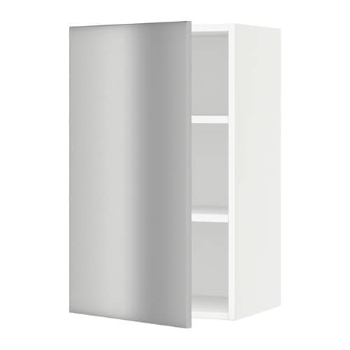 sektion armoire murale blanc grevsta acier inox 18x15x30 ikea. Black Bedroom Furniture Sets. Home Design Ideas