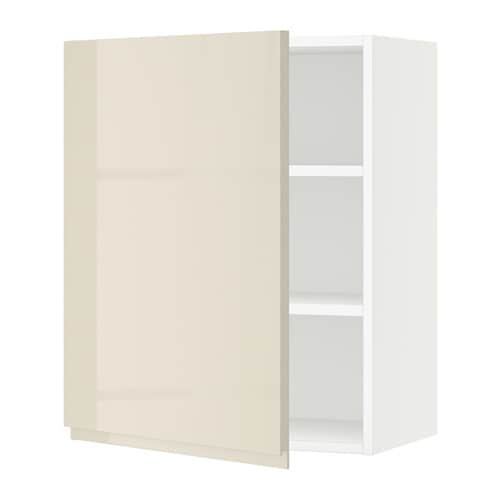 sektion armoire murale blanc voxtorp ultrabrillant beige clair 24x15x30 ikea. Black Bedroom Furniture Sets. Home Design Ideas