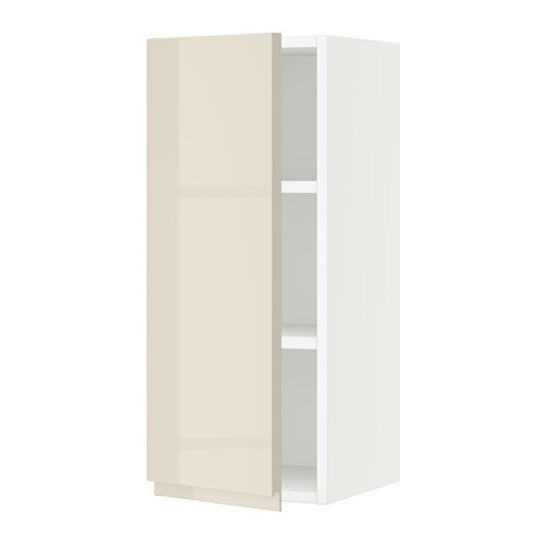 sektion armoire murale blanc voxtorp ultrabrillant. Black Bedroom Furniture Sets. Home Design Ideas