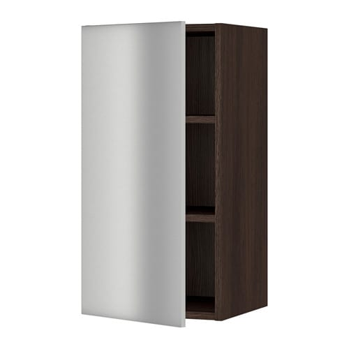 sektion armoire murale effet bois brun grevsta acier inox 15x15x30 ikea. Black Bedroom Furniture Sets. Home Design Ideas