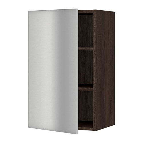 sektion armoire murale effet bois brun grevsta acier inox 18x15x30 ikea. Black Bedroom Furniture Sets. Home Design Ideas