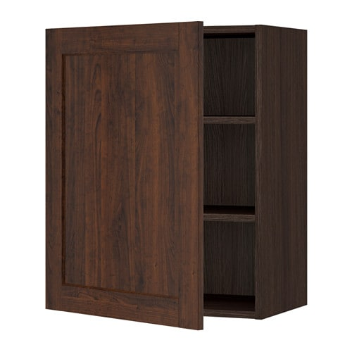 sektion armoire murale effet bois brun edserum effet. Black Bedroom Furniture Sets. Home Design Ideas