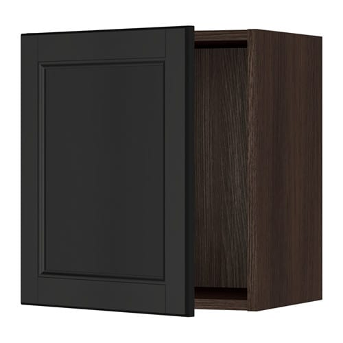 sektion armoire murale effet bois brun laxarby brun. Black Bedroom Furniture Sets. Home Design Ideas