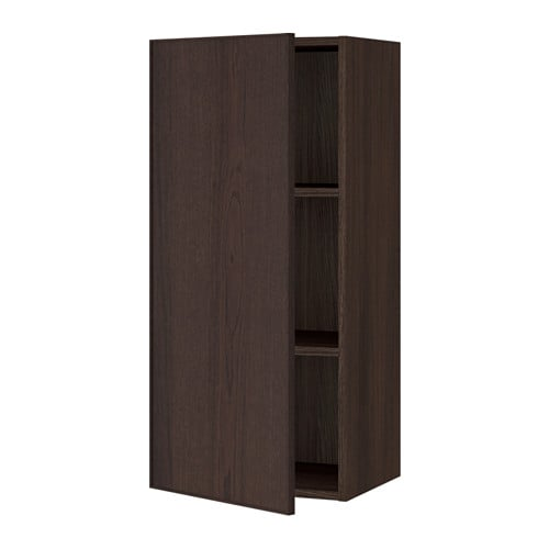 sektion armoire murale effet bois brun ekestad brun. Black Bedroom Furniture Sets. Home Design Ideas