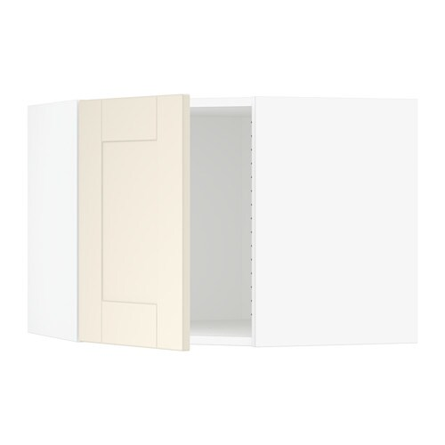 sektion armoire murale d 39 angle blanc grimsl v blanc cass ikea. Black Bedroom Furniture Sets. Home Design Ideas