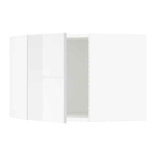 sektion armoire murale d 39 angle blanc ringhult ultrabrillant blanc ikea. Black Bedroom Furniture Sets. Home Design Ideas