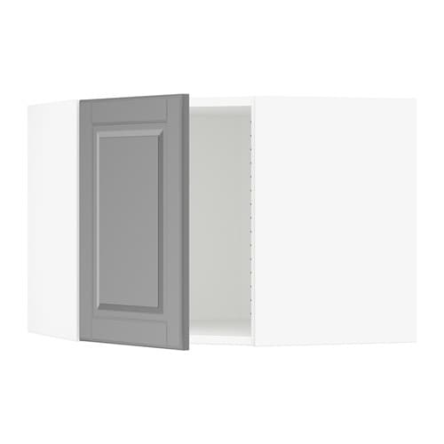 sektion armoire murale d 39 angle blanc bodbyn gris ikea. Black Bedroom Furniture Sets. Home Design Ideas