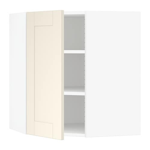 sektion armoire murale d 39 angle tablettes blanc grimsl v. Black Bedroom Furniture Sets. Home Design Ideas