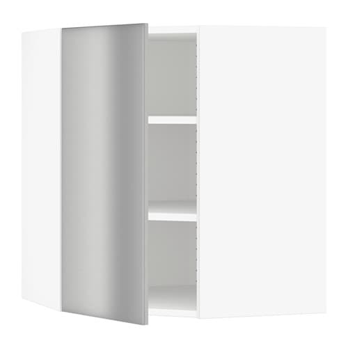sektion armoire murale d 39 angle tablettes blanc grevsta acier inox 26x15x30 ikea. Black Bedroom Furniture Sets. Home Design Ideas