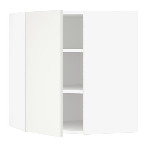 sektion armoire murale d 39 angle tablettes blanc h ggeby. Black Bedroom Furniture Sets. Home Design Ideas