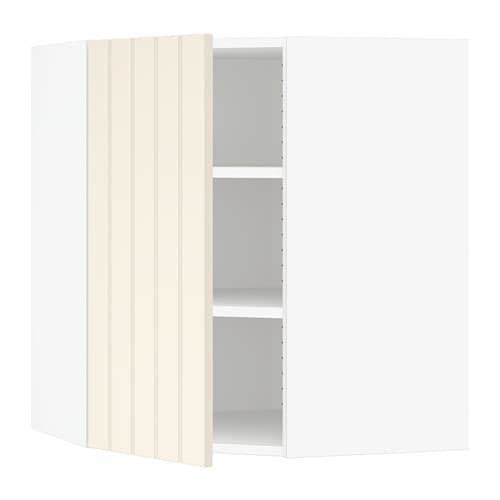 sektion armoire murale d 39 angle tablettes blanc hittarp. Black Bedroom Furniture Sets. Home Design Ideas