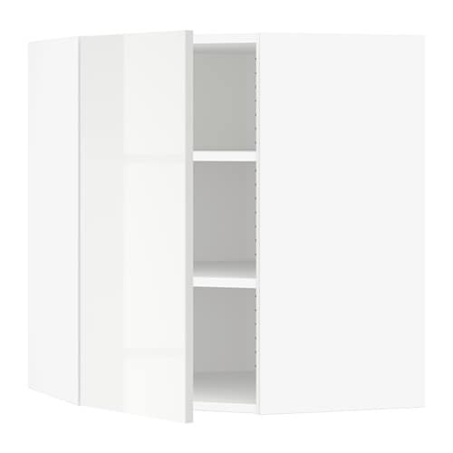 sektion armoire murale d 39 angle tablettes blanc ringhult. Black Bedroom Furniture Sets. Home Design Ideas