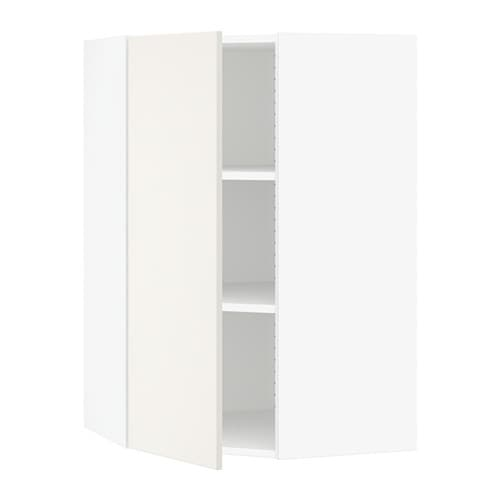 sektion armoire murale d 39 angle tablettes blanc veddinge. Black Bedroom Furniture Sets. Home Design Ideas