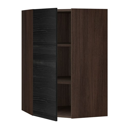 sektion armoire murale d 39 angle tablettes effet bois brun tingsryd effet bois noir 26x15x40. Black Bedroom Furniture Sets. Home Design Ideas