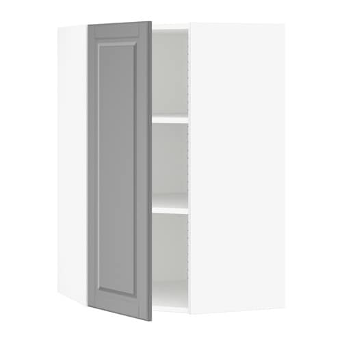 sektion armoire murale d 39 angle tablettes blanc bodbyn gris 26x15x40 ikea. Black Bedroom Furniture Sets. Home Design Ideas