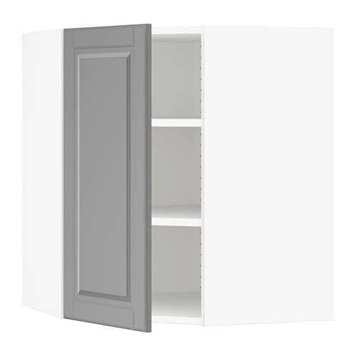 sektion armoire murale d 39 angle tablettes blanc bodbyn gris 26x15x30 ikea. Black Bedroom Furniture Sets. Home Design Ideas