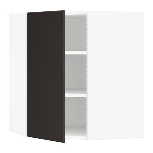 sektion armoire murale d 39 angle tablettes blanc. Black Bedroom Furniture Sets. Home Design Ideas