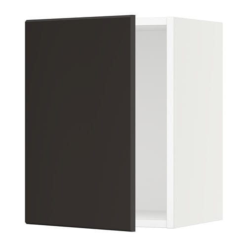 Sektion armoire murale blanc kungsbacka anthracite for Cuisine kungsbacka ikea
