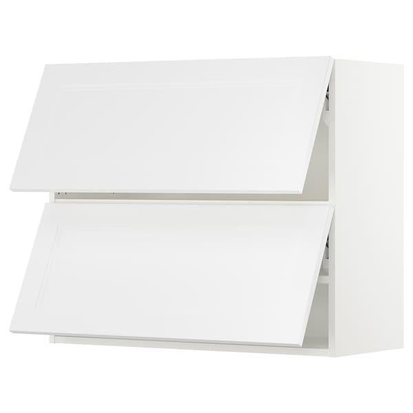 "SEKTION Armoire murale horiz+2ptes, blanc/Axstad blanc mat, 36x15x30 """