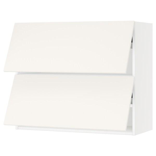 "SEKTION Armoire murale horiz+2ptes, blanc/Veddinge blanc, 36x15x30 """
