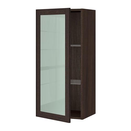 sektion armoire murale porte vitr e effet bois brun ekestad brun 18x15x40 ikea. Black Bedroom Furniture Sets. Home Design Ideas