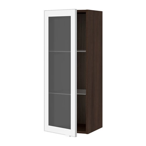 sektion armoire murale porte vitr e effet bois brun jutis verre d poli aluminium 15x15x40. Black Bedroom Furniture Sets. Home Design Ideas