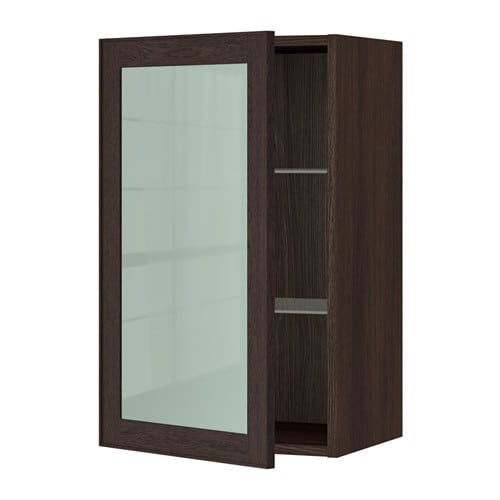 sektion armoire murale porte vitr e effet bois brun ekestad brun 18x15x30 ikea. Black Bedroom Furniture Sets. Home Design Ideas
