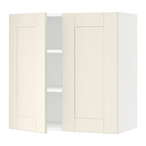 sektion armoire murale 2 portes blanc grimsl v blanc cass 30x15x30 ikea. Black Bedroom Furniture Sets. Home Design Ideas