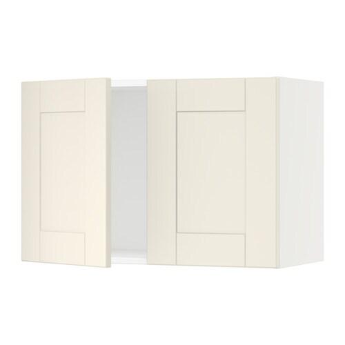 sektion armoire murale 2 portes blanc grimsl v blanc cass 30x15x20 ikea. Black Bedroom Furniture Sets. Home Design Ideas
