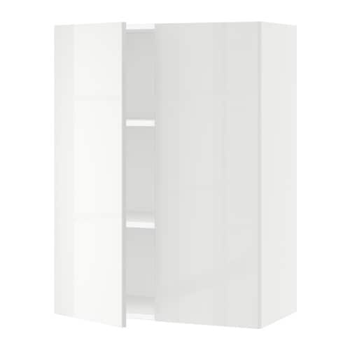 sektion armoire murale 2 portes blanc ringhult. Black Bedroom Furniture Sets. Home Design Ideas