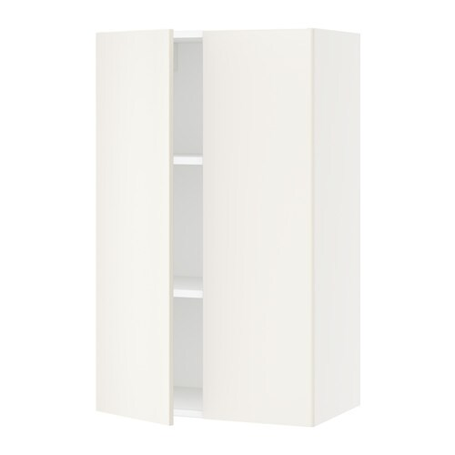 sektion armoire murale 2 portes blanc veddinge blanc 24x15x40 ikea. Black Bedroom Furniture Sets. Home Design Ideas
