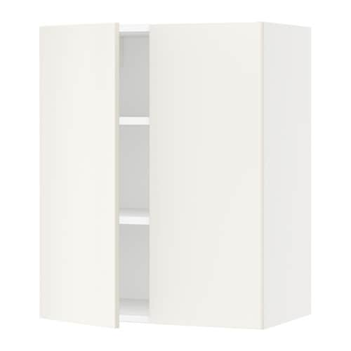 sektion armoire murale 2 portes blanc veddinge blanc 24x15x30 ikea. Black Bedroom Furniture Sets. Home Design Ideas