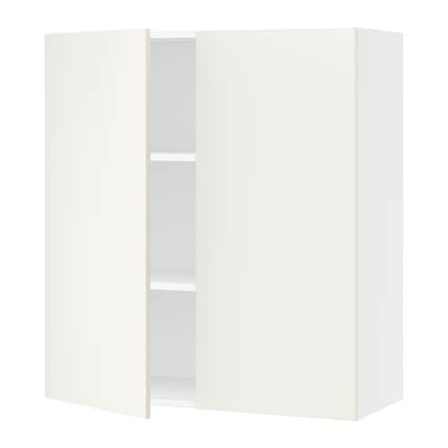 sektion armoire murale 2 portes blanc veddinge blanc. Black Bedroom Furniture Sets. Home Design Ideas