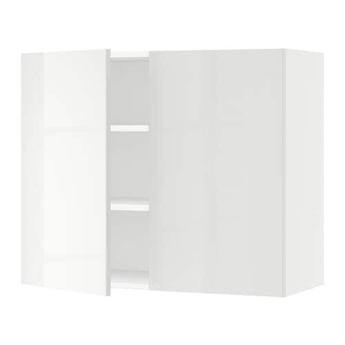 sektion armoire murale 2 portes blanc ringhult ultrabrillant blanc 36x15x30 ikea. Black Bedroom Furniture Sets. Home Design Ideas