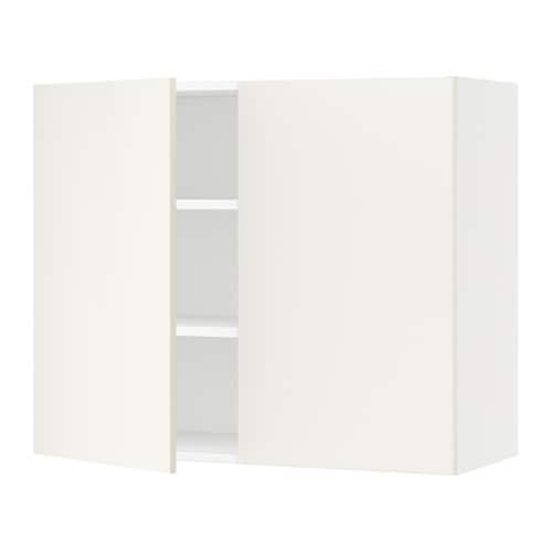 sektion armoire murale 2 portes blanc veddinge blanc 36x15x30 ikea. Black Bedroom Furniture Sets. Home Design Ideas