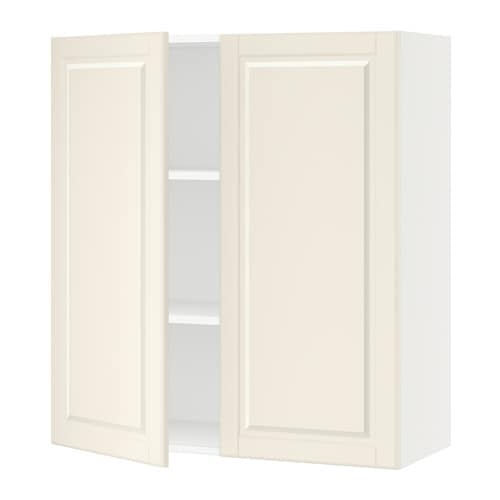 sektion armoire murale 2 portes blanc bodbyn blanc. Black Bedroom Furniture Sets. Home Design Ideas