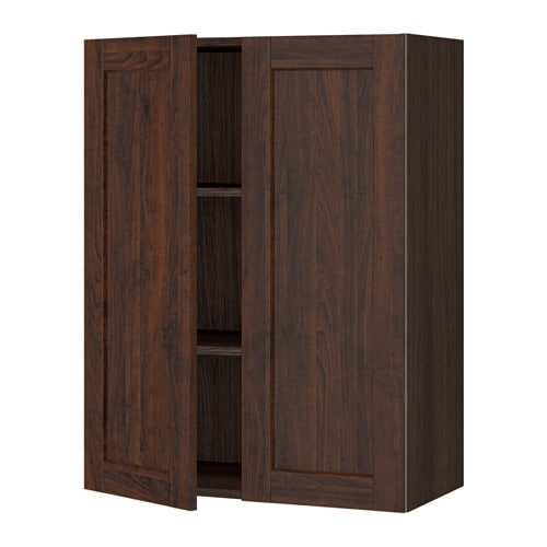 sektion armoire murale 2 portes effet bois brun edserum effet bois brun 30x15x40 ikea. Black Bedroom Furniture Sets. Home Design Ideas