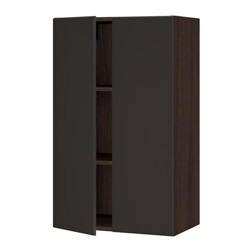 sektion armoire murale 2 portes effet bois brun. Black Bedroom Furniture Sets. Home Design Ideas