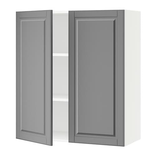 sektion armoire murale 2 portes blanc bodbyn gris 36x15x40 ikea. Black Bedroom Furniture Sets. Home Design Ideas