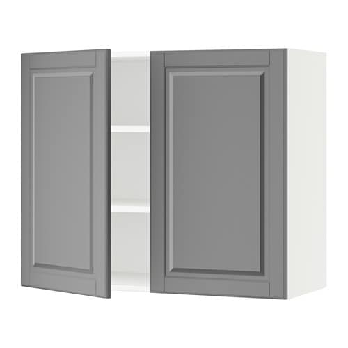 sektion armoire murale 2 portes blanc bodbyn gris 36x15x30 ikea. Black Bedroom Furniture Sets. Home Design Ideas