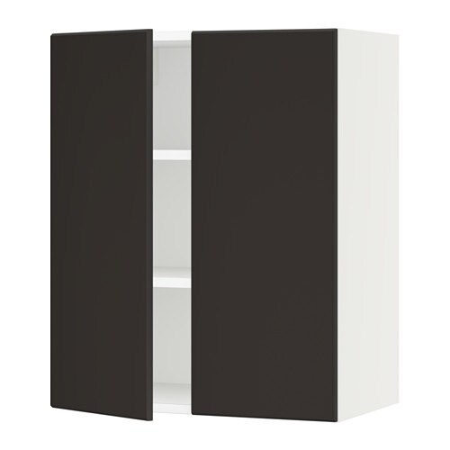 sektion armoire murale 2 portes blanc kungsbacka anthracite 24x15x30 ikea. Black Bedroom Furniture Sets. Home Design Ideas