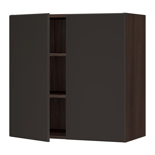 sektion armoire murale 2 portes effet bois brun kungsbacka anthracite 30x15x30 ikea. Black Bedroom Furniture Sets. Home Design Ideas