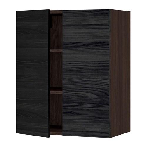 sektion armoire murale 2 portes effet bois brun tingsryd effet bois noir 24x15x30 ikea. Black Bedroom Furniture Sets. Home Design Ideas