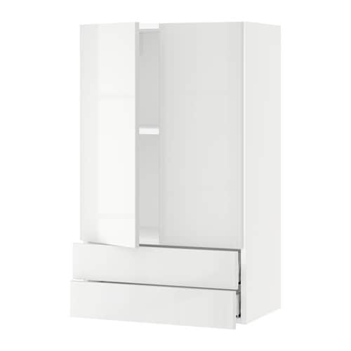 sektion armoire murale 2portes 2tiroirs blanc ringhult. Black Bedroom Furniture Sets. Home Design Ideas