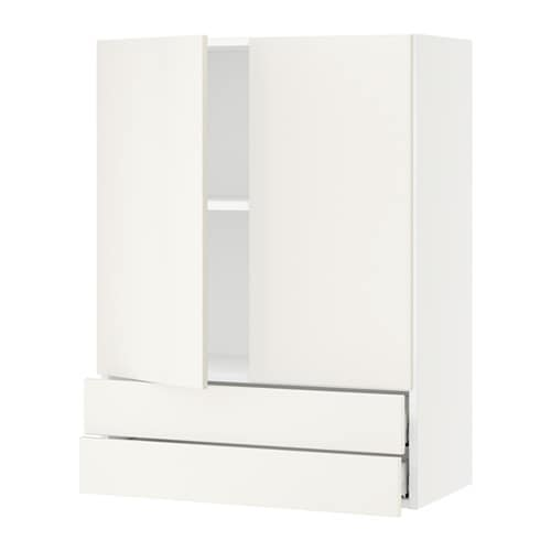 sektion armoire murale 2portes 2tiroirs blanc veddinge blanc 30x15x40 ikea. Black Bedroom Furniture Sets. Home Design Ideas