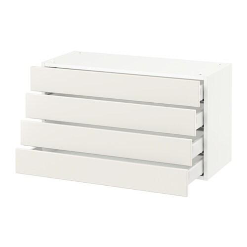 sektion armoire murale 4 tiroirs blanc veddinge blanc 36x15x20 ikea. Black Bedroom Furniture Sets. Home Design Ideas