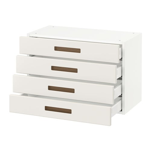 sektion armoire murale 4 tiroirs blanc m rsta blanc 30x15x20 ikea. Black Bedroom Furniture Sets. Home Design Ideas