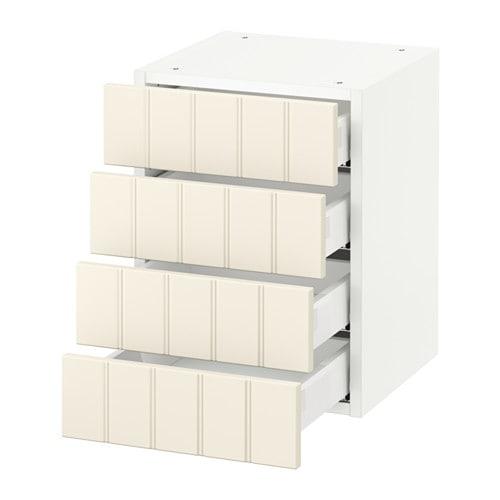 sektion armoire murale 4 tiroirs blanc hittarp blanc cass 15x15x20 ikea. Black Bedroom Furniture Sets. Home Design Ideas